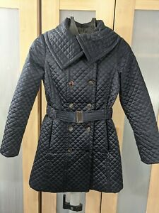 Principles Petites Size 6 Quilted Coat Navy Blue