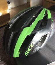 Scott Cycle Helmet,Black/ Green, Large 59-61cm