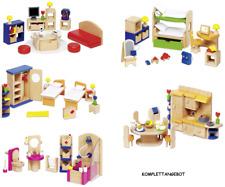 5x Möbel Puppenhaus goki, Einrichtung, Küche Bad Zimmer komplett, Puppenstube