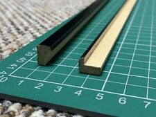 3.2m (4x 0.8m lengths) Narrow 9mm black timber Mirror/Picture Frame Moulding AN