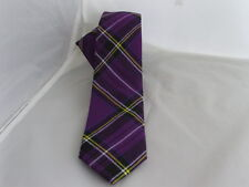 "( 6C ) Tartan-Purple Mens Skinny Necktie-Tie-2.5"" = 6cm Width-P&P 2UK >1st Class"