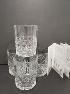 Marquis Waterford Brady - 4 Double Old Fashioned Glasses - Germany - Open Box