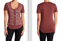 LUCKY BRAND WOMEN'S ALL OVER PRINT TEE: STYLE #7W83976 -- CHOOSE SIZE