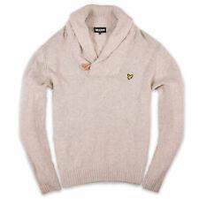 Lyle & Scott Herren Pullover Sweater Strick Gr.XL  100% Lamm Wolle Grau 105861