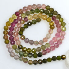 Natural Multicolor Tourmaline Faceted Rondelle Loose Beads Gemstones 37.71Cts