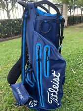 Titleist 2019 Players 4 StaDry Stand Carry Bag Navy And Light Blue
