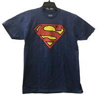 DC Comics Men's Superman Official Logo Graphic Licensed T-Shirt Heather Blue New