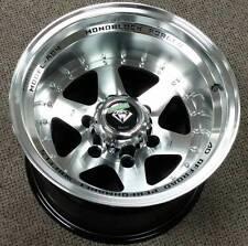 4 ~ 15x10 White Diamond WD-3910 Machined Wheels 6x139.7 w/black windows -44mm