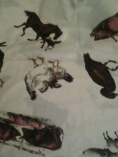 Farm Life Cows Ducks Chickens more Cotton Fabric 36 x 21