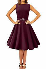 NEW FACTORY SECOND PURPLE AUDREY ROCKABILLY PARTY PROM DRESS SIZE 10 BN
