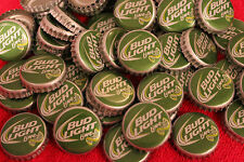 100 BUD LIGHT LIME GREEN BEER BOTTLE CAPS NEW STYLE NO DENTS SEE STORE 4 MORE