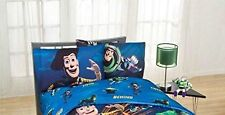 """New Disney Toy Story """"Don't Toy with Us"""" Kids Dark Blue Bedding Full Sheet Set"""