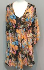 #73 WOMEN'S CLOTHES - beach pool floral KAFTAN by NAUGHTS and CROSSES size 12