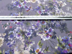 2 meter piece .100 % cotton poplin, purple floral