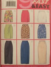 Easy OOP BUTTERICK 5015 MS/MP Front Overlay Skirts~3 lengths PATTERN 12-14-16