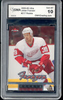 2005 Johan Franzen Ultra Rookie Gem Mint 10 #217