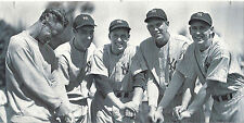 NEW YORK YANKEES LOU GEHRIG JOE DIMAGGIO AND MATES BATS IN HAND