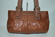 Coach Soho Pleated Large Leather Zip Tote Shoulder Bag F13732