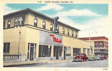 VA, Virginia  HOTEL PULASKI  Street View & Cars ROADSIDE  c1940's Linen Postcard