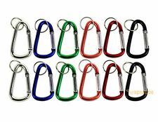 "Carabiner 3"" Aluminum Hook Lock Keychain Key Ring Spring Belt Clip (Lot of 12)"