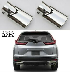 2pcs Exhaust Muffler Tail Pipe Tip Tailpipe Trim For Honda CR-V CRV 2020-2021