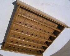 Vintage Solid Oak Thimbles Shelf 20x19x3+ Inches 48 spots