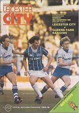 Leicester City v QPR - Div 1 - 26/12/1983 - Football Programme