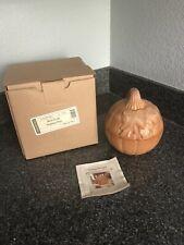 Longaberger Milk Glass Pumpkin Dish Nib Pumpkin Swirl With Candle