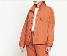 Levis Made & Crafted Oversized Type 3 Embroidered Trucker Jacket Orange LARGE
