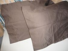VERATEX BROWN UMBER SATEEN 800 THREAD COUNT (PAIR) KING PILLOWCASES 20 X 38