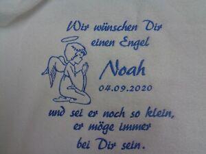 Tauftuch oder Taufdecke mit Namen bestickt,Babydecke Taufgeschenk ,Patengeschenk
