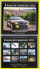 CALENDARIO DA TAVOLO - ARMA DEI CARABINIERI - ANNO 2012