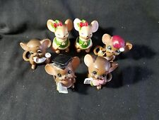 Josef Orignial Christmas Mice Lot Of 4 + 2 Mouse Shakers