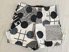 Zara Terez Black, White & Gray Puzzle Games Shorts Size M NWT!