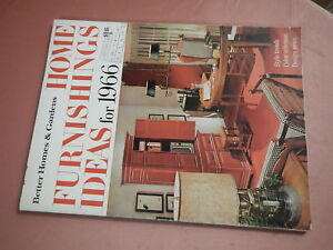 BETTER HOMES & GARDENS HOME FURNISHINGS IDEAS FOR 1966