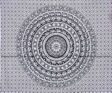 Black and white elephant mandala tapestry hippie wall hanging indian bedspread