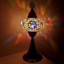 Authentique Turkish Coloré Lampe Lumière Style Tiffany Verre Bureau Ce Testée