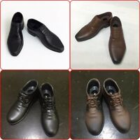 """1/6 Scale Men's Black/Brown Leather Shoes Toys For 12"""" Male Action Figure Body"""