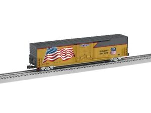 Lionel 6-85401 O Union Pacific Yellow / Gray LED Flag Boxcar #1862