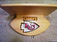 Chiefs Display shelf  shelf  10 x 16  for helmets handmade for any player
