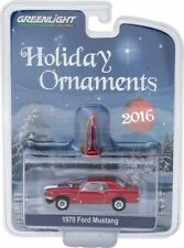 GREENLIGHT 2016 HOLIDAY ORNAMENTS 1970 FORD MUSTANG DIECAST CAR 40010-E