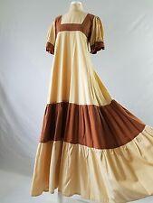 Vintage LAURA ASHLEY Dress WALES Prairie Edwardian Russet Cotton Boho Milkmaid 8