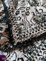 1/2 PRICE 2 X Vintage Linens. Embroidery & Batik. English & Asian art Fabric.