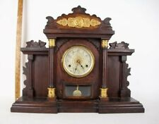"SCARCE ANTIQUE NEW HAVEN GINGERBREAD MANTLE CLOCK - MODEL ""UMBRIA"""