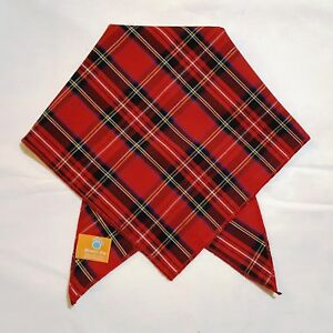 Red Tartan  Dog Bandana / Scarf - 3 sizes to choose from!