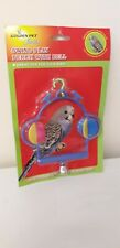 NEW IN PACKET...BIRD TOY...BUDGIE...CANARY...SWING PERCH..LOVELY COLOURS..TOY...