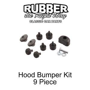 1948 - 1952 Ford Truck Hood Bumper Kit - 9 piece