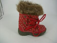 NEXT Young girls Faux Fur Winter Boots UK 4 EU 20.5 JS093 HH 07
