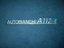 Emblem Badge Autobianchi A 112 E ca. 23,5 x 3 cm