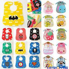 Baby Boys Girls Superhero Waterproof Saliva Towel Bib Feeding Burp Apron Bandana